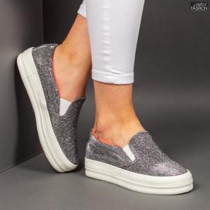 "Espadrile ""D.L. Fashion 5078 Silver"""