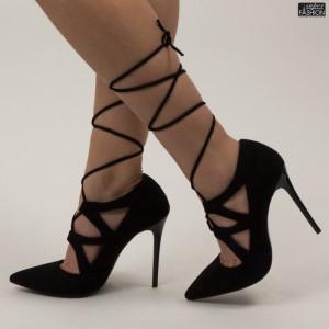 Pantofi ''Mei AF3501 Black'' [D1F8]