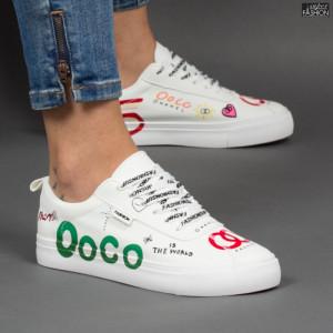 Pantofi sport ''ABC H2210 White'' [D23B12]