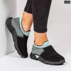Pantofi Sport ''ALD Fashion HQ-209-273 Black L. Green ''