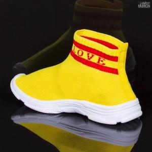 Pantofi Sport Copii ''Meek YF-102 Yellow'' [D9C1]