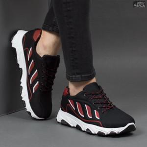 Pantofi Sport ''Fashion Balq G-002 Black Red'' [S20B3]