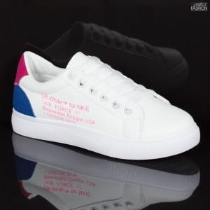 Pantofi sport ''Lavy 836B White'' [D18B11]