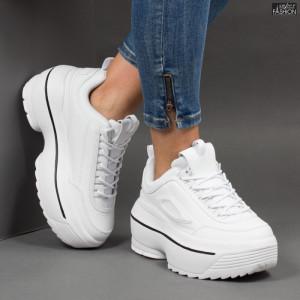 Pantofi sport ''Lavy AB5658 White Black'' [D4B1]