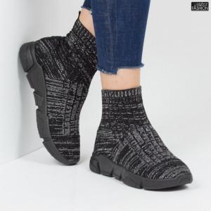 Pantofi sport ''Lavy CW-01 Black Silver'' [D2E4]