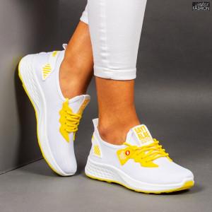 """Pantofi Sport """"Meek A-29 White Yellow"""""""