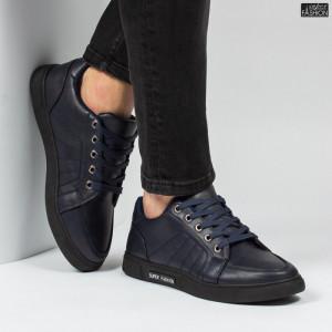 "Pantofi Sport ""Meek FX-35 Black/Blue"" [S20C9]"