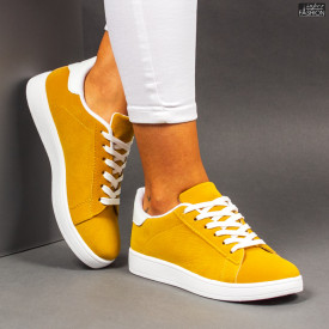 """Pantofi Sport """"Mei YKQ117 Yellow White"""""""