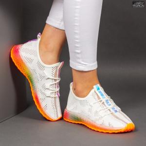 Pantofi Sport ''Mei YKQ209 White Orange''