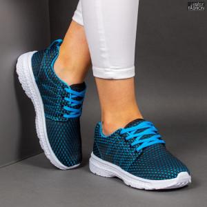 Pantofi Sport ''RED STAR Fashion 665 Black Lake Blue'' [D8B6]