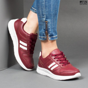 Pantofi Sport ''Veer Fashion A1816-4 Wine Red'' [D10D2]