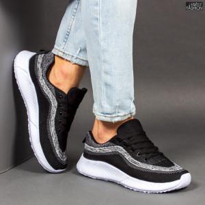 """Pantofi Sport """"WE Fashion 8808 Black Grey'' [S10A4]"""