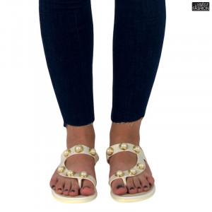papuci dama albi