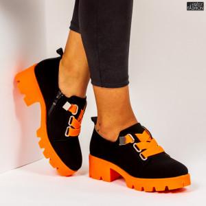 """Pantofi """"Mei ZP1975 Black Orange"""""""
