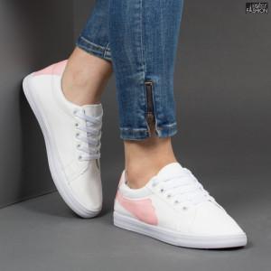 Pantofi Sport ''ALD Fashion HQ-117 White Pink''