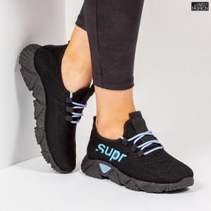 Pantofi Sport ''ALD Fashion HQ-201-223 Black W. Blue'' [D13E13]