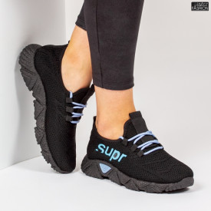 Pantofi Sport ''ALD Fashion HQ-201-223 Black W. Blue''
