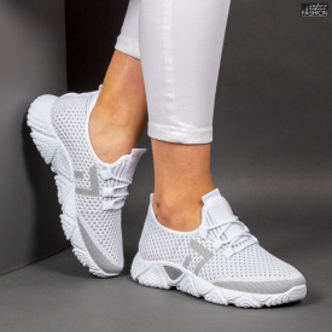 Pantofi Sport ''ALD Fashion HQ-203-243 White Grey'' [D8E4]
