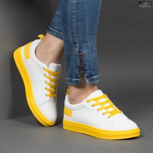 Pantofi Sport ''ALD Fashion HQ-B08 White Yellow'' [D23E6]