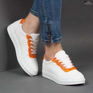Pantofi Sport ''ALD Fashion HQ-F22 White Orange'' [D11E1]