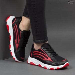 Pantofi Sport ''Fashion Balq G-006 Black Red'' [S9B1]