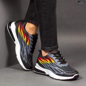Pantofi Sport ''Fashion Balq N-07 Black Grey'' [S9C4]