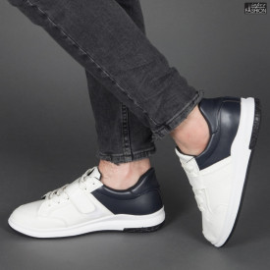 """Pantofi Sport """"Khatlon 106 White Blue"""" [S23E12]"""