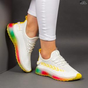 Pantofi Sport ''Mei YKQ198 White Yellow'' [D2E5]