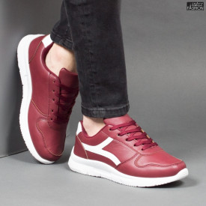 Pantofi Sport ''Veer Fashion B2815-4 Wine Red'' [S21E2]