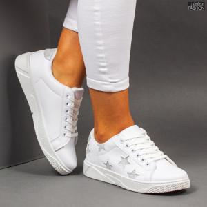 Pantofi Sport ''Veer Fashion F1821-10 White Grey''