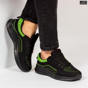 """Pantofi Sport """"WE Fashion 8806 Black Green'' [S21D6]"""