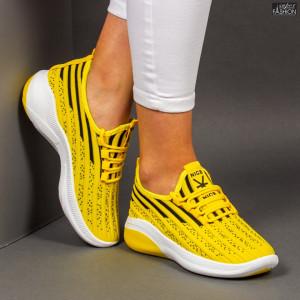 """Pantofi Sport """"Z Fashion ZA-72 Yellow"""" [D11D1]"""