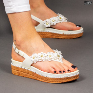 sandale dama cu model floral