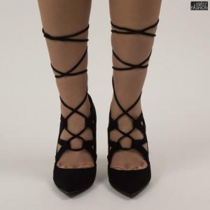 pantofi dama cu snur si toc