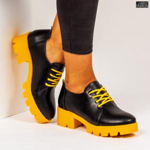 """Pantofi """"Mei ZP1971 Black Yellow"""""""
