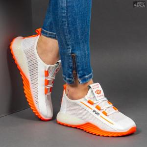 Pantofi Sport ''ABC 1603 White Orange'' [D10A7]