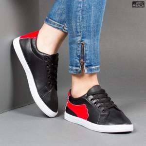 Pantofi Sport ''ALD Fashion HQ-117 Black Red'' [D8A1]