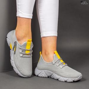 Pantofi Sport ''ALD Fashion HQ-202-236 D. Grey Yellow '' [D9E1]