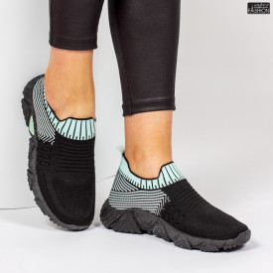 Pantofi Sport ''ALD Fashion HQ-209-273 Black L. Green '' [D21E9]