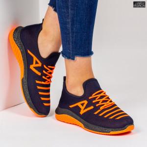 Pantofi Sport ''ALD Fashion HQ-3-23 Navy Orange'' [D7D6]
