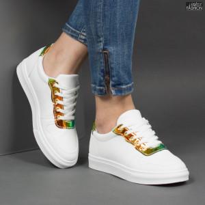 Pantofi Sport ''ALD Fashion HQ-F23 White Yellow''