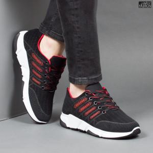 Pantofi Sport ''Fashion Balq A-051 Black Red''