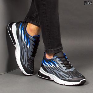 Pantofi Sport ''Fashion Balq N-07 Black Blue'' [S13B3]