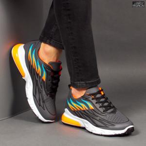 Pantofi Sport ''Fashion Balq N-07 Black Orange''
