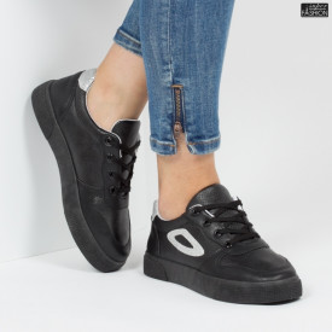 Pantofi sport ''Lavy A07 Black White '' [D10C1]