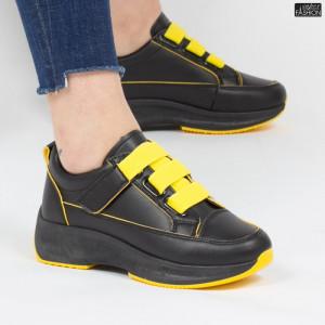 Pantofi sport ''Mei XC7 Black Yellow'' [D19E5]