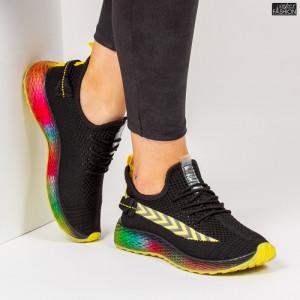 Pantofi Sport ''Mei YKQ198 Black Yellow'' [D22D4]