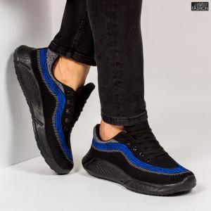 """Pantofi Sport """"WE Fashion 8808 Black Blue''"""
