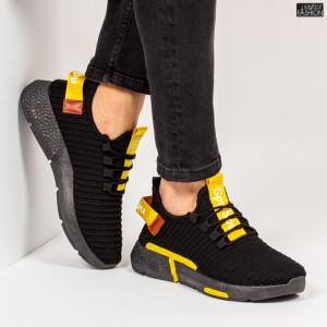 """Pantofi Sport """"Z Fashion ZM-13 Black Yellow"""" [S13D1]"""