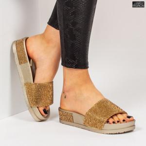 Papuci ''Mei Fashion WS118 Gold''